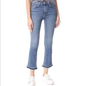 Rag & Bone High Rise Crop Flare Jeans Size 27